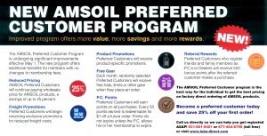 AMSOIL Preferred Customer Perks